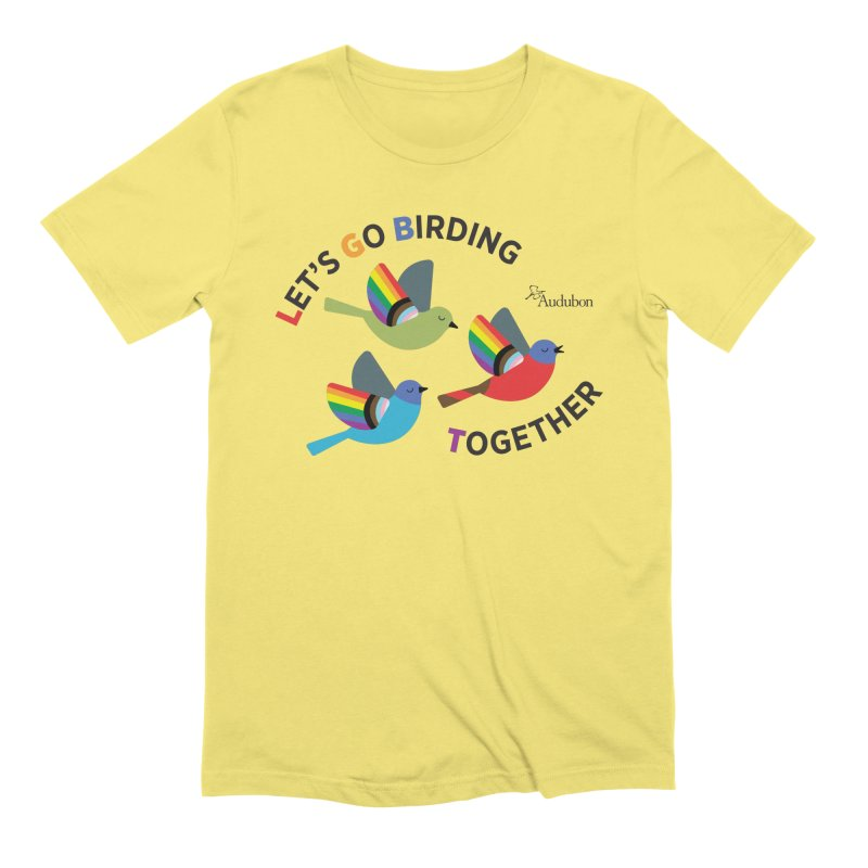 Let's Go Birding Together Men's T-Shirt by Official National Audubon Society Retail Store