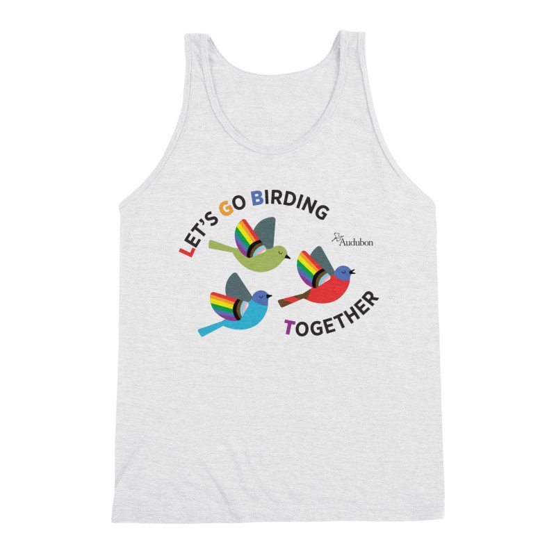 Let's Go Birding Together Men's Tank by Official National Audubon Society Retail Store