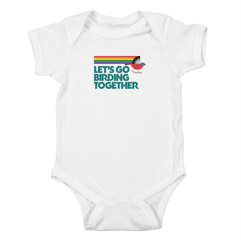 Let's Go Birding Together 2021 Kids Baby Bodysuit by Official National Audubon Society Retail Store