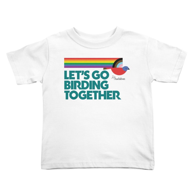 Let's Go Birding Together 2021 Kids Toddler T-Shirt by Official National Audubon Society Retail Store