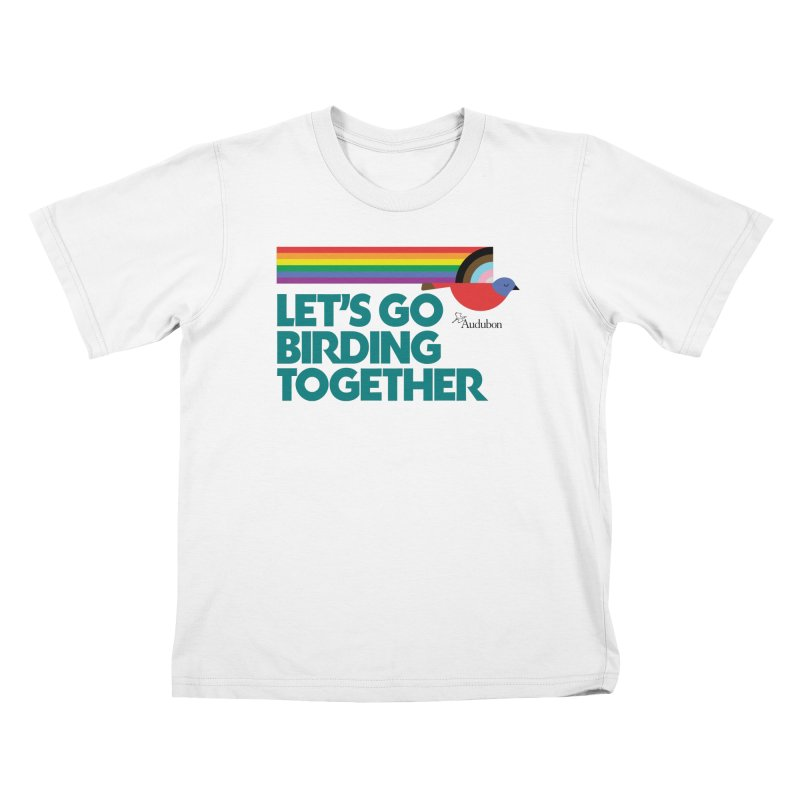 Let's Go Birding Together 2021 Kids T-Shirt by Official National Audubon Society Retail Store