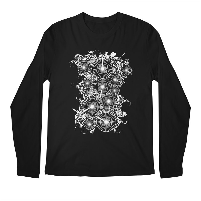 Pennyfarthing Design Men's Longsleeve T-Shirt by auntspray's Artist Shop