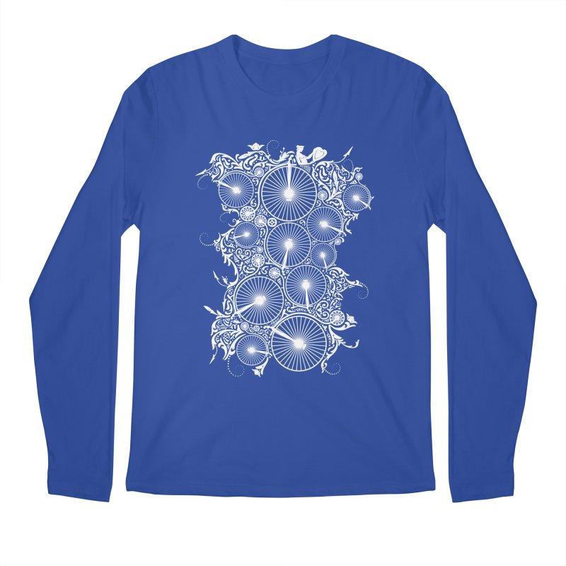 Pennyfarthing Design Men's Regular Longsleeve T-Shirt by auntspray's Artist Shop