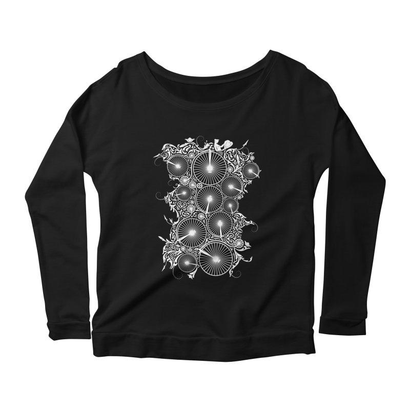 Pennyfarthing Design Women's Scoop Neck Longsleeve T-Shirt by auntspray's Artist Shop