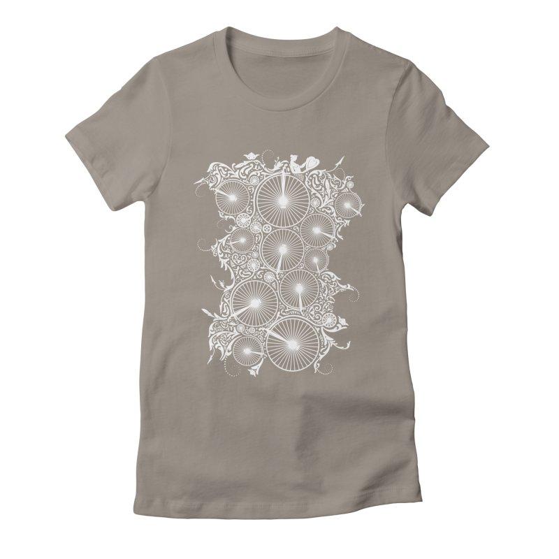 Pennyfarthing Design Women's Fitted T-Shirt by auntspray's Artist Shop
