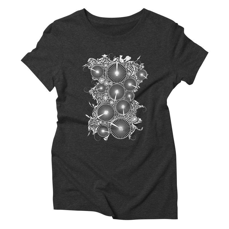 Pennyfarthing Design Women's Triblend T-Shirt by auntspray's Artist Shop