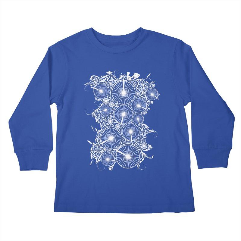 Pennyfarthing Design Kids Longsleeve T-Shirt by auntspray's Artist Shop