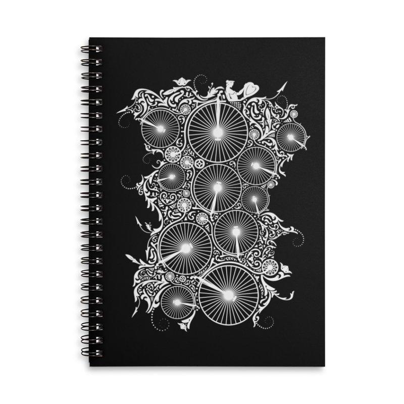 Pennyfarthing Design Accessories Lined Spiral Notebook by auntspray's Artist Shop