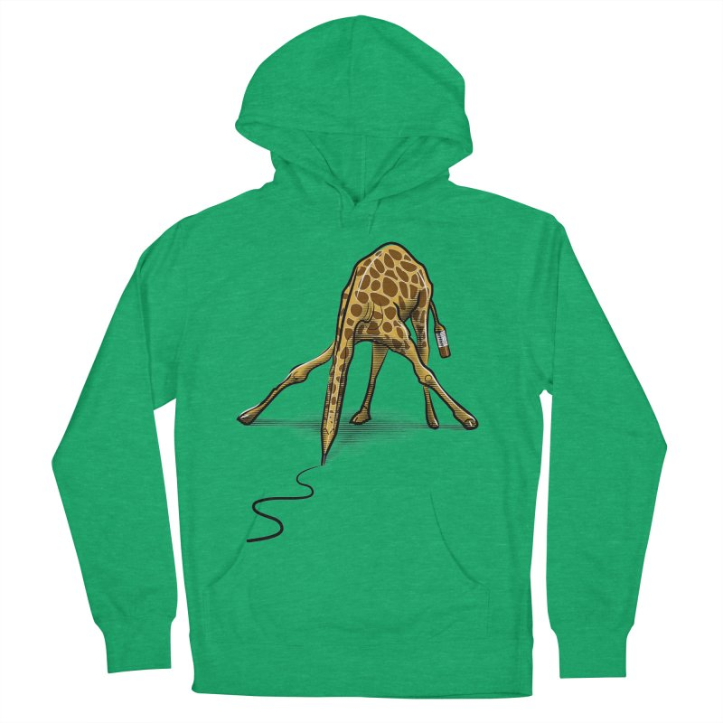 Draw-raffe Women's French Terry Pullover Hoody by auntspray's Artist Shop