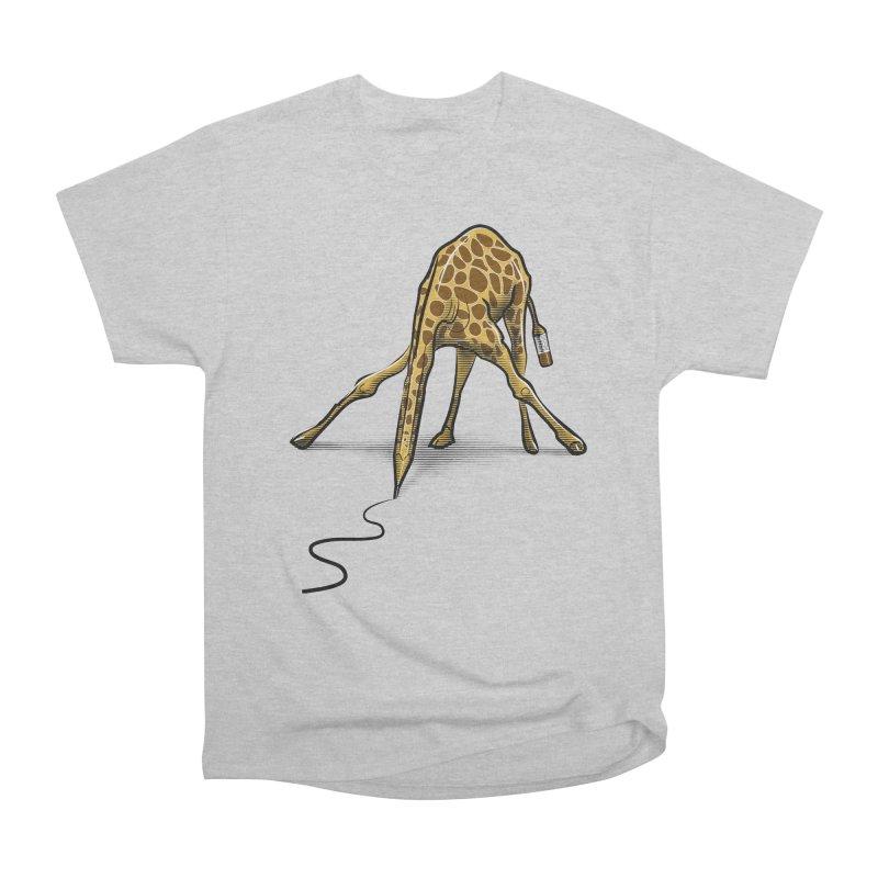 Draw-raffe Men's Heavyweight T-Shirt by auntspray's Artist Shop