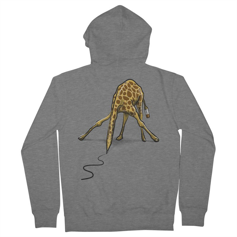 Draw-raffe Women's French Terry Zip-Up Hoody by auntspray's Artist Shop