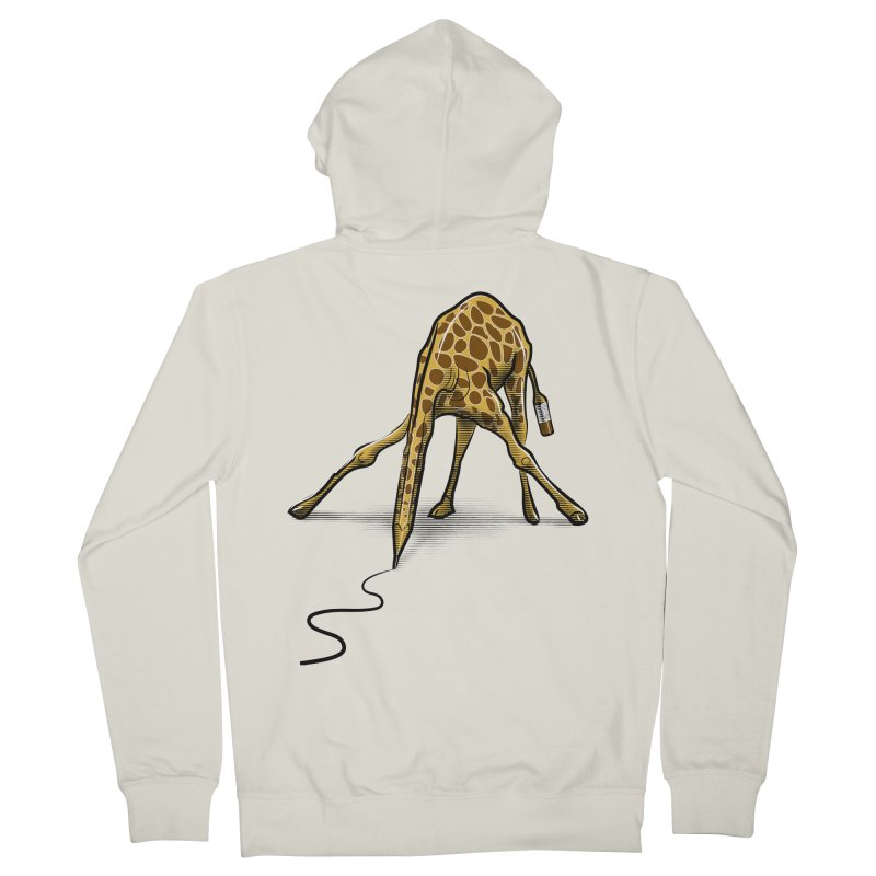 Draw-raffe Women's Zip-Up Hoody by auntspray's Artist Shop