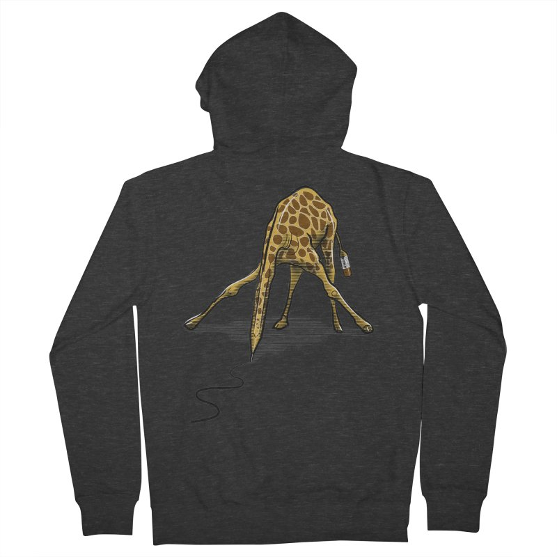 Draw-raffe Men's French Terry Zip-Up Hoody by auntspray's Artist Shop