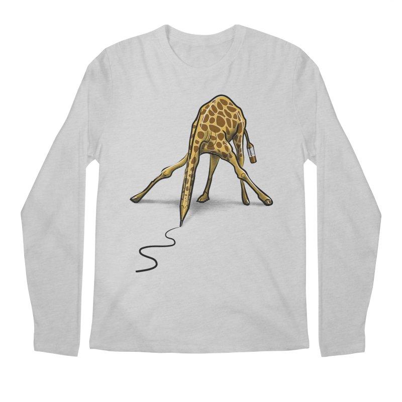 Draw-raffe Men's Longsleeve T-Shirt by auntspray's Artist Shop
