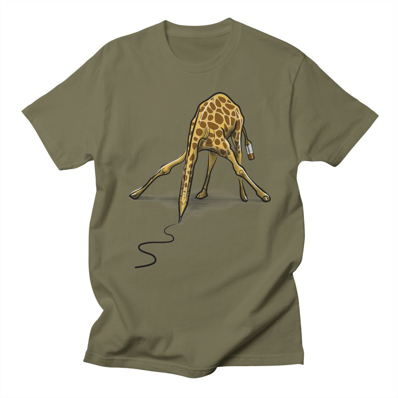Draw-raffe Men's T-Shirt by auntspray's Artist Shop