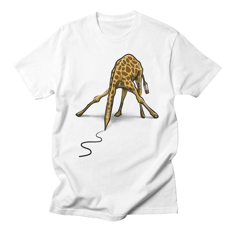 Draw-raffe Men's Regular T-Shirt by auntspray's Artist Shop
