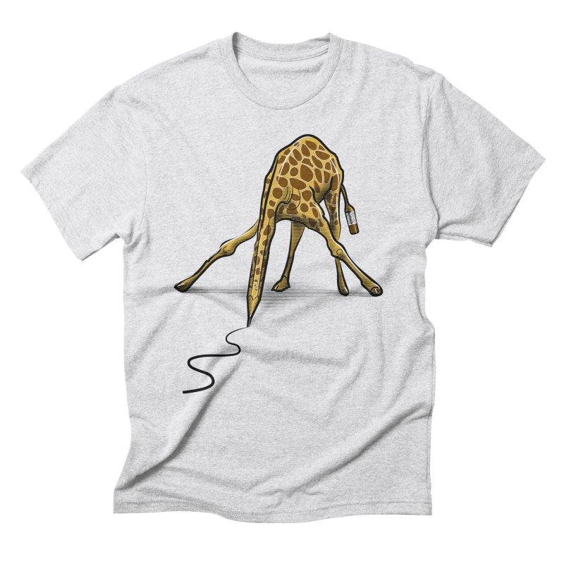 Draw-raffe Men's Triblend T-Shirt by auntspray's Artist Shop