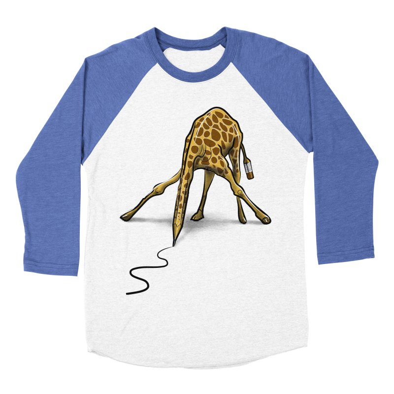 Draw-raffe Men's Baseball Triblend Longsleeve T-Shirt by auntspray's Artist Shop