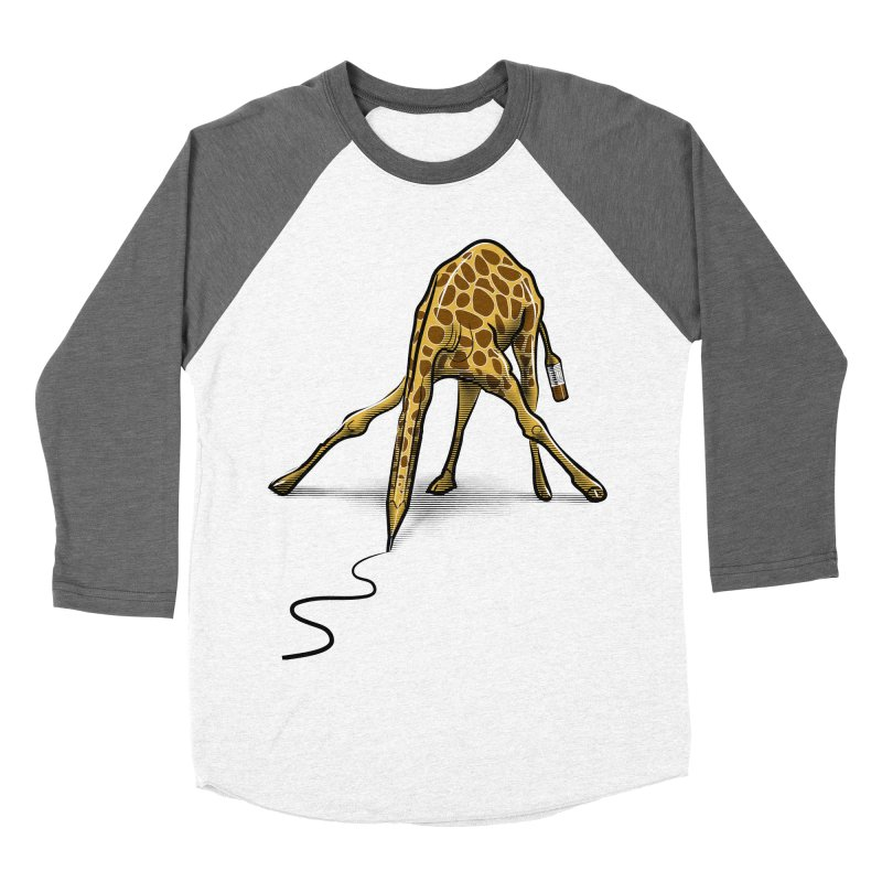 Draw-raffe Men's Baseball Triblend T-Shirt by auntspray's Artist Shop