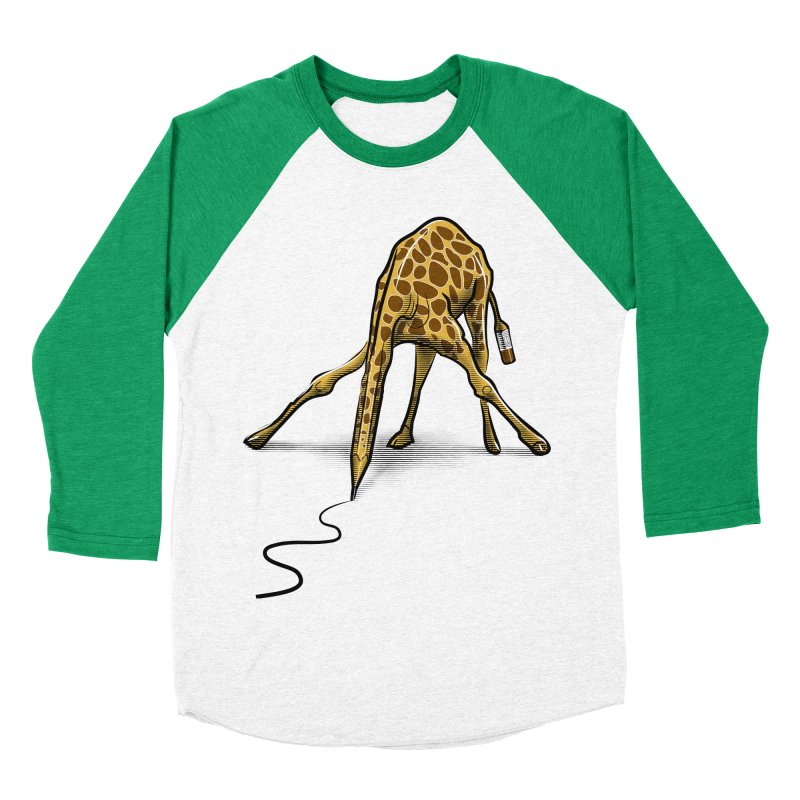 Draw-raffe Men's Baseball Triblend Longsleeve T-Shirt by auntspray's Artist Shop