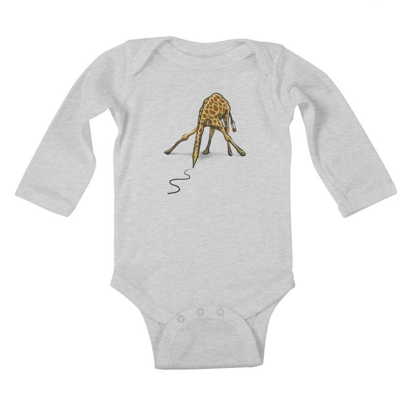 Draw-raffe Kids Baby Longsleeve Bodysuit by auntspray's Artist Shop