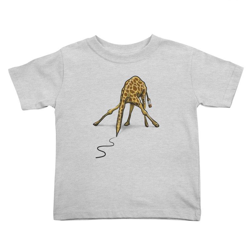 Draw-raffe Kids Toddler T-Shirt by auntspray's Artist Shop