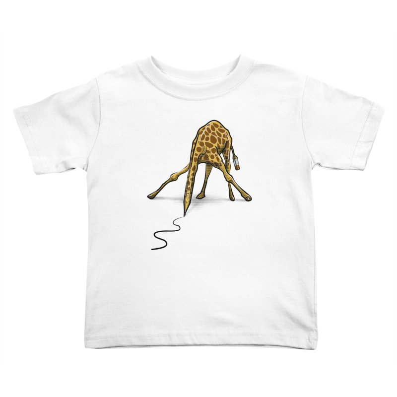 Draw-raffe Kids Toddler T-Shirt by auntspray's Artist Shop