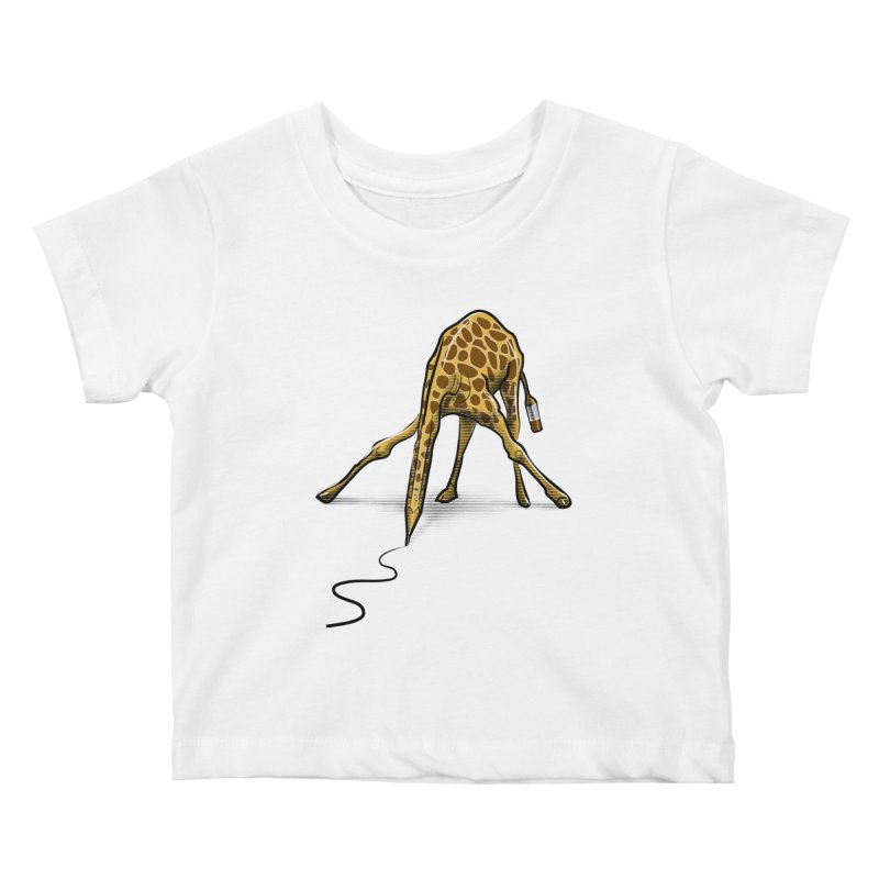 Draw-raffe Kids Baby T-Shirt by auntspray's Artist Shop