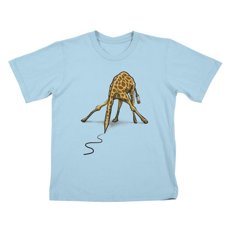 Draw-raffe Kids T-Shirt by auntspray's Artist Shop