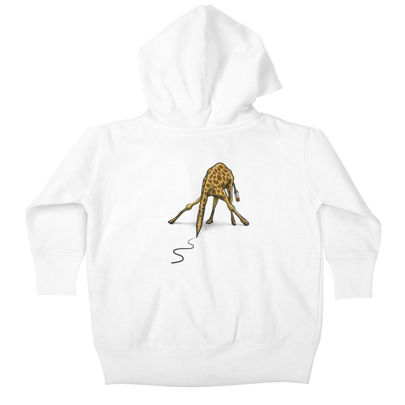 Draw-raffe Kids Baby Zip-Up Hoody by auntspray's Artist Shop