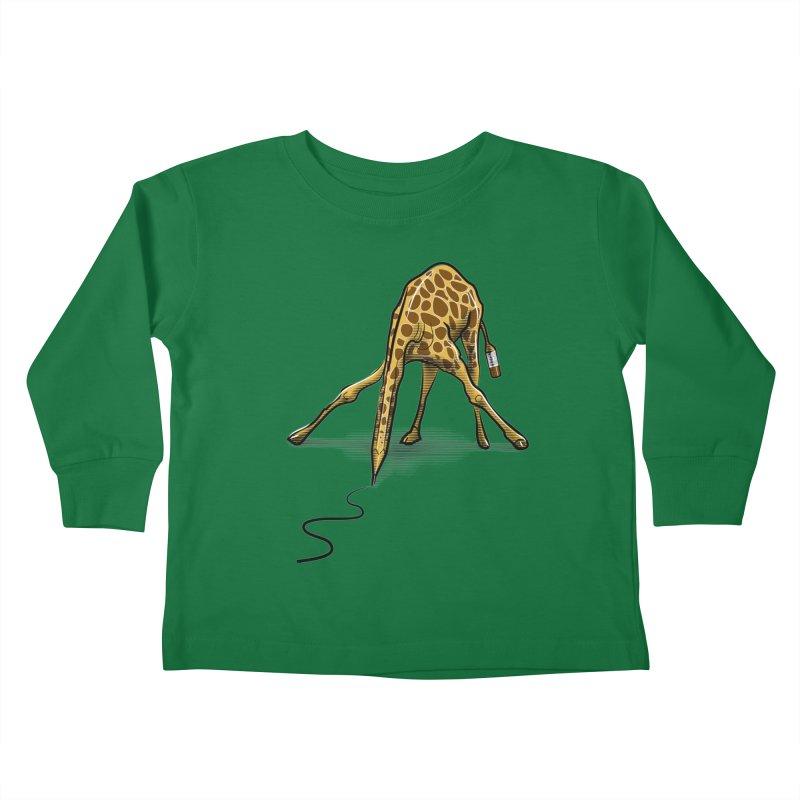 Draw-raffe Kids Toddler Longsleeve T-Shirt by auntspray's Artist Shop