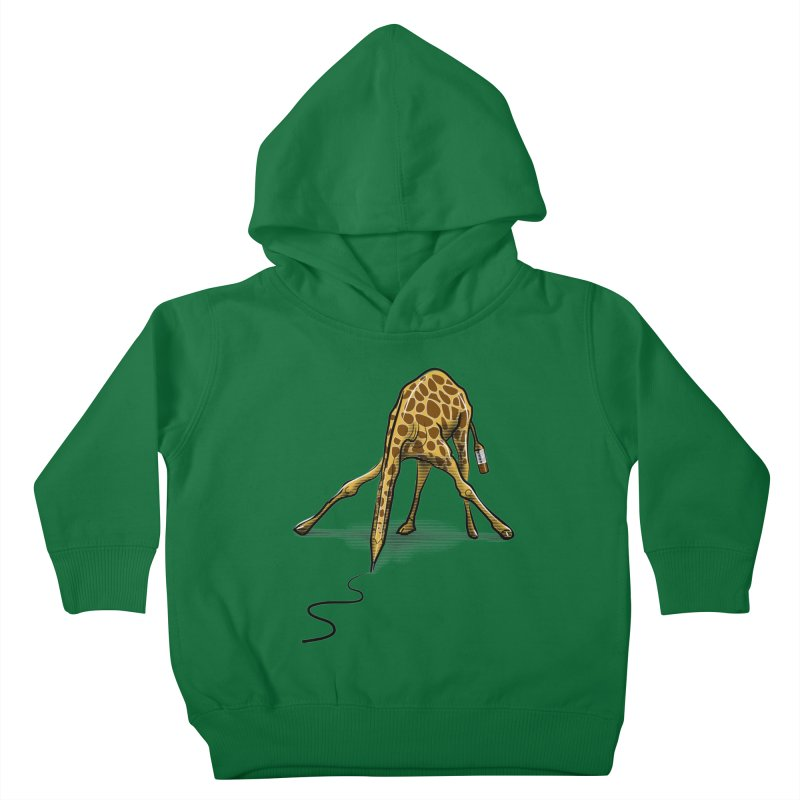Draw-raffe Kids Toddler Pullover Hoody by auntspray's Artist Shop