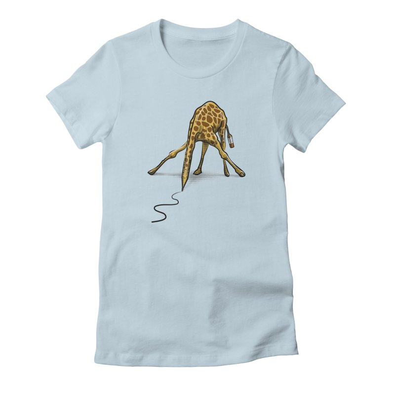 Draw-raffe Women's T-Shirt by auntspray's Artist Shop