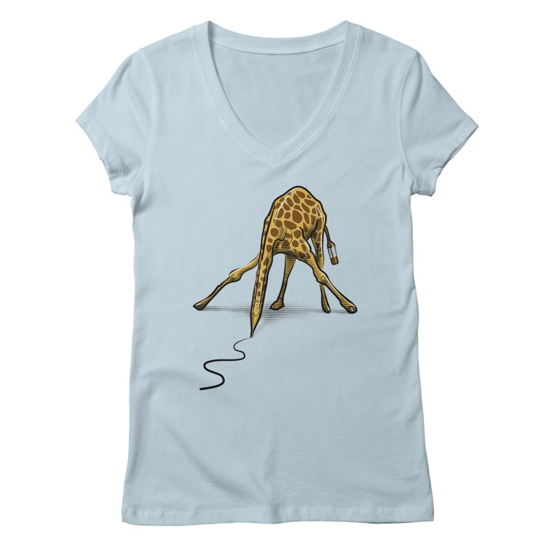 Draw-raffe Women's V-Neck by auntspray's Artist Shop