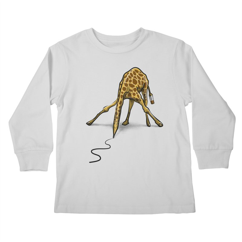 Draw-raffe Kids Longsleeve T-Shirt by auntspray's Artist Shop