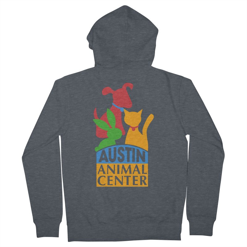 AAC Logo: Color Women's Zip-Up Hoody by Austin Animal Center Shop