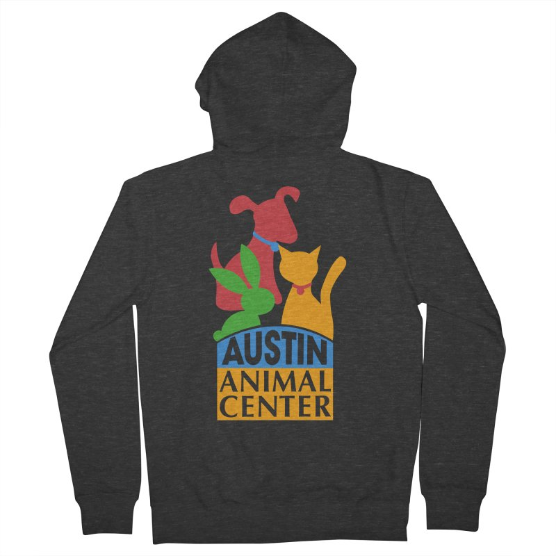 AAC Logo: Color Men's Zip-Up Hoody by Austin Animal Center Shop