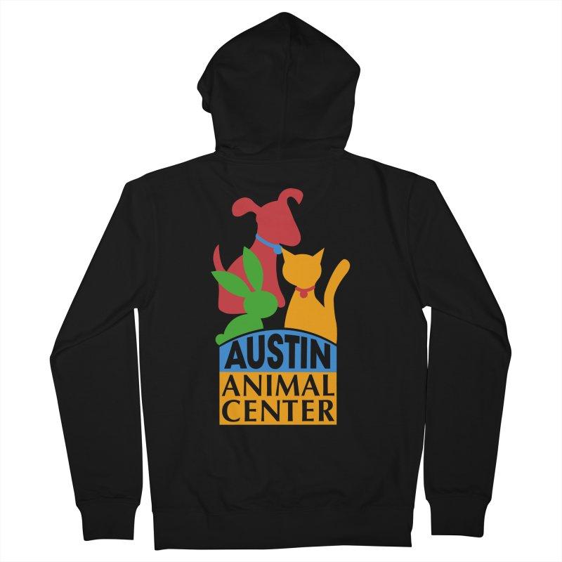 AAC Logo: Color Men's Zip-Up Hoody by Austin Animal Center Shop
