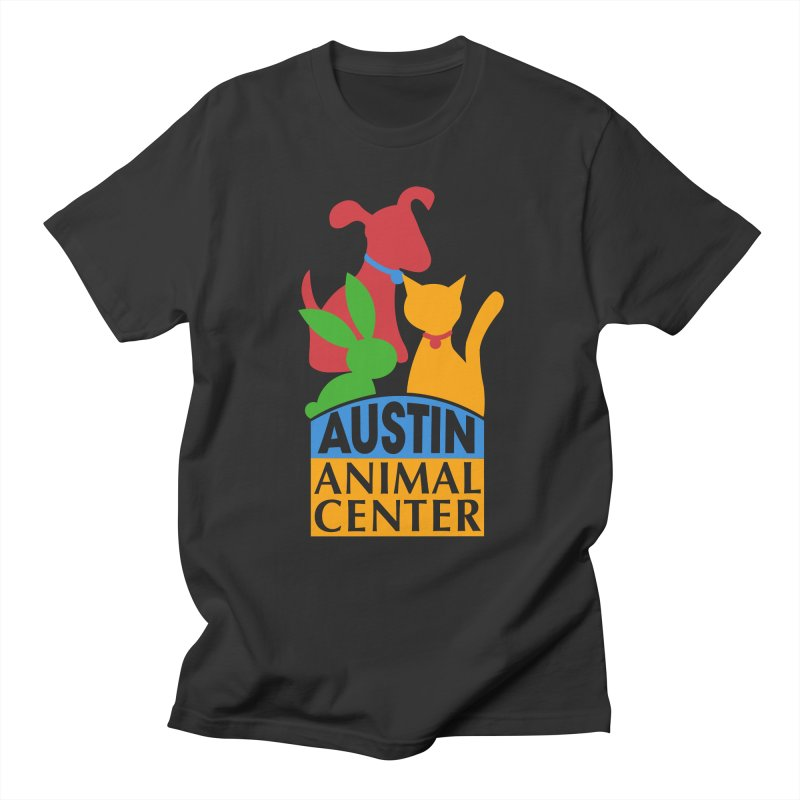 AAC Logo: Color in Men's Regular T-Shirt Smoke by Austin Animal Center Shop