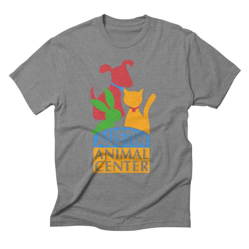 AAC Logo: Color Men's Triblend T-Shirt by Austin Animal Center Shop