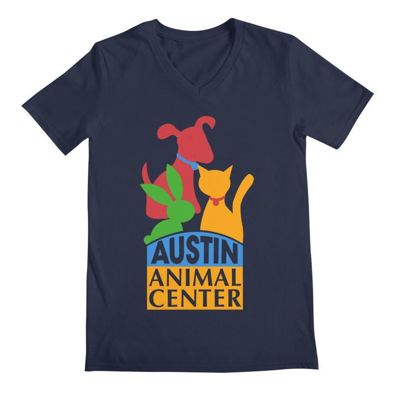 AAC Logo: Color Men's V-Neck by Austin Animal Center Shop