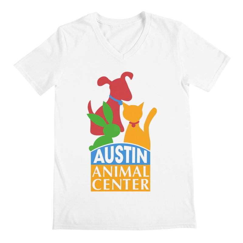 AAC Logo: Color Men's V-Neck by Austin Animal Center Shop