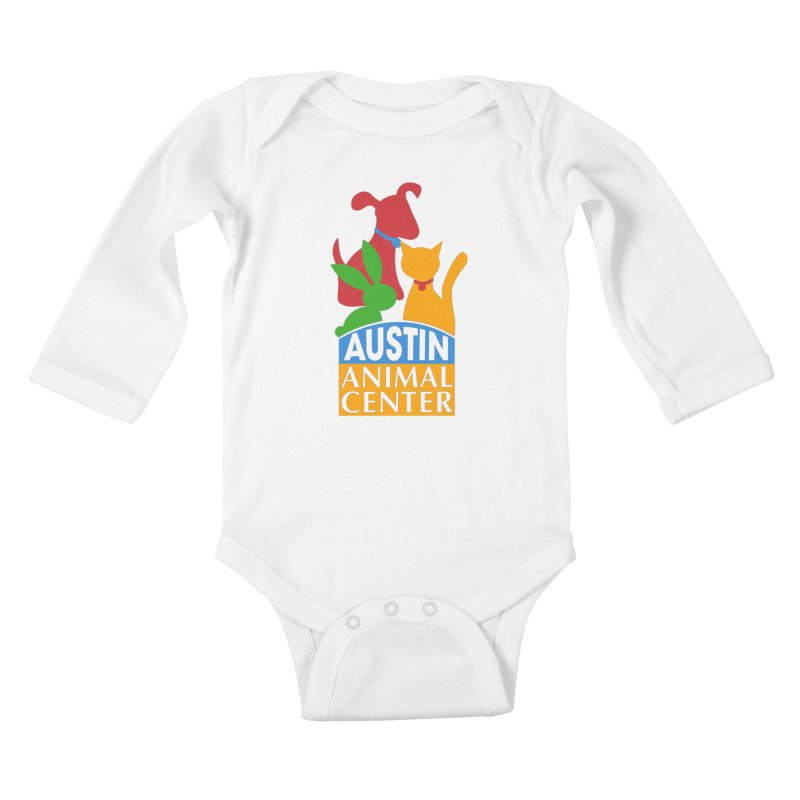 AAC Logo: Color Kids Baby Longsleeve Bodysuit by Austin Animal Center Shop