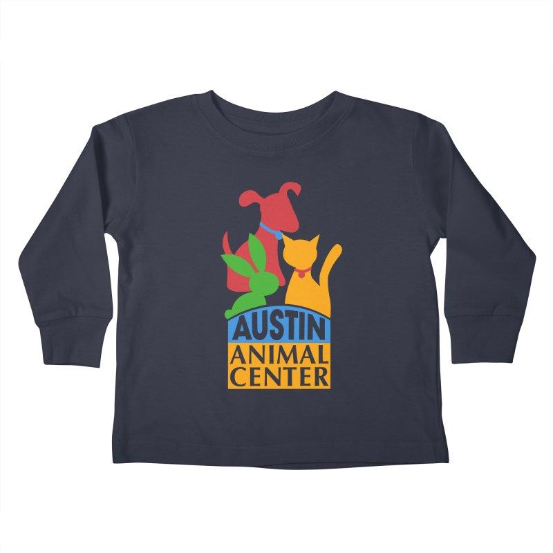 AAC Logo: Color Kids Toddler Longsleeve T-Shirt by Austin Animal Center Shop