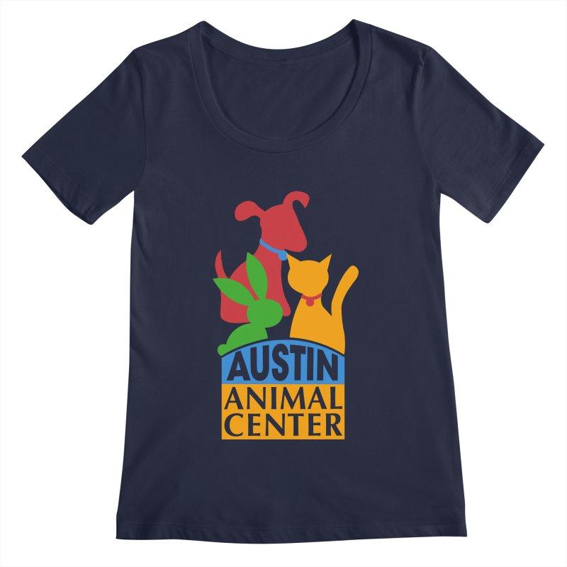 AAC Logo: Color Women's Scoopneck by Austin Animal Center Shop