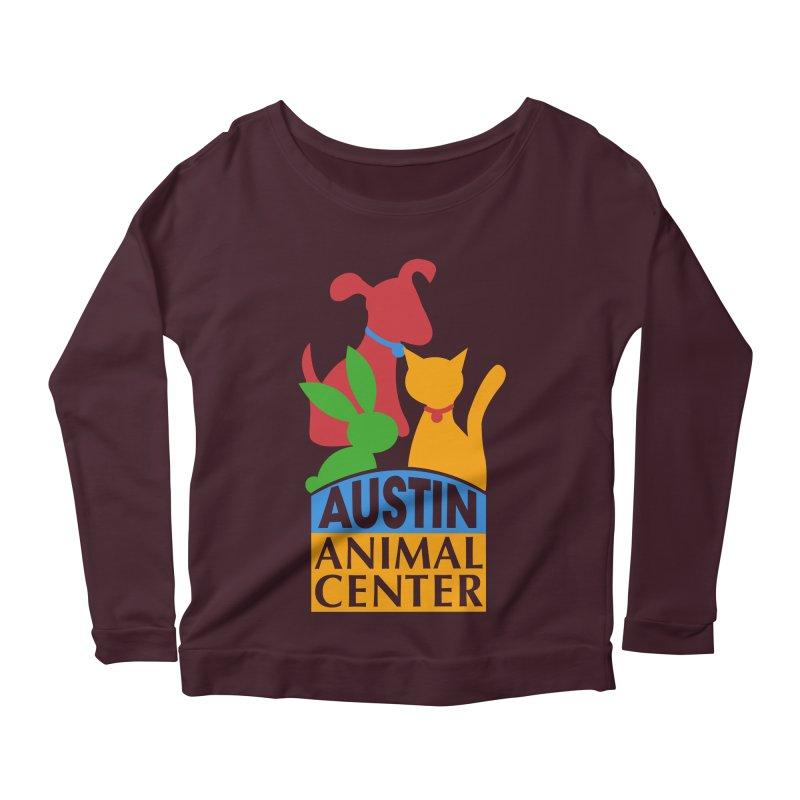 AAC Logo: Color Women's Longsleeve Scoopneck  by Austin Animal Center Shop
