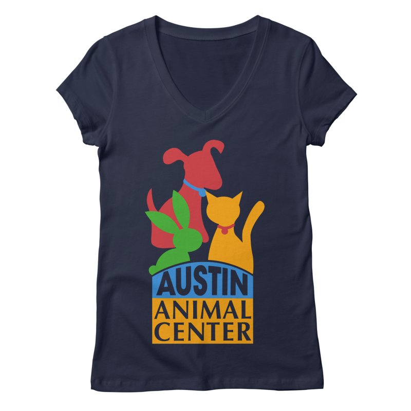 AAC Logo: Color Women's V-Neck by Austin Animal Center Shop