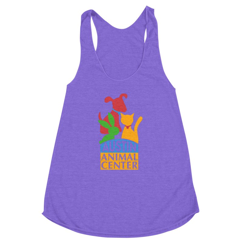 AAC Logo: Color Women's Racerback Triblend Tank by Austin Animal Center Shop