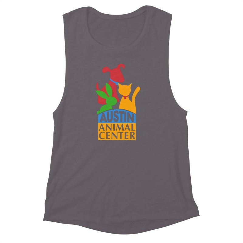 AAC Logo: Color Women's Muscle Tank by Austin Animal Center Shop