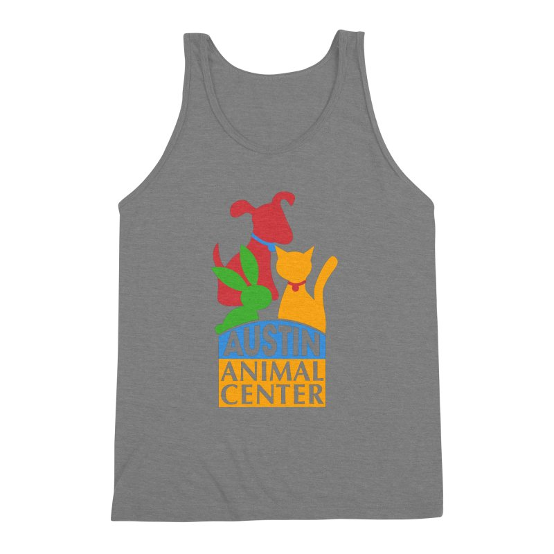 AAC Logo: Color Men's Triblend Tank by Austin Animal Center Shop